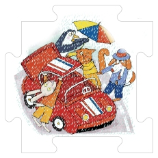 In viaggio con la spider, Libro Puzzle, La Coccinella 2004
