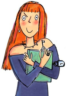 Cover Illustration for teenager girls paperback book