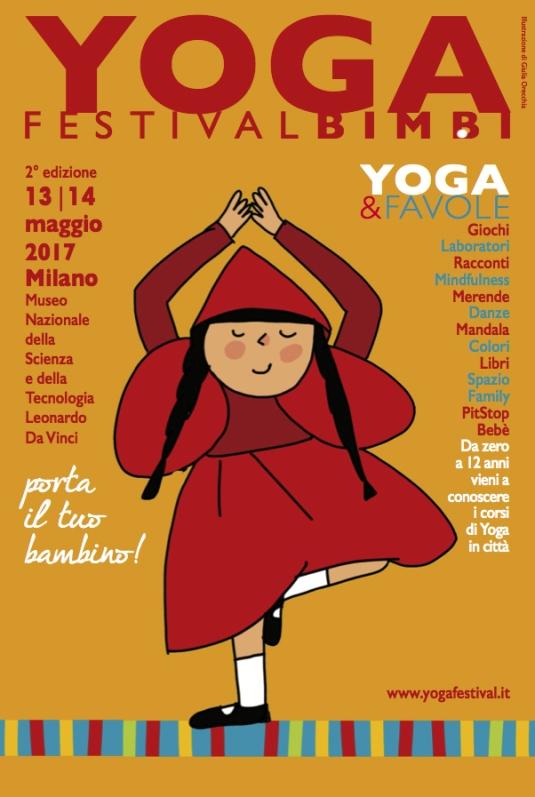 yoga bambini cappuccetto poster